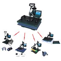 Cheap 7 In 1 Combo Heat Press Machine,sublimation machine can be used on t shirt,mugs,phon case,etc,mug/tshirt printing machine