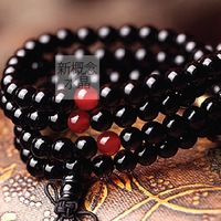 108 fozhu black agate bracelet crystal bracelet natural jewelry rosary female