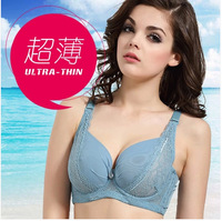 2014 SUMMER Sexy gauze lace bra ultra-thin push up adjustable underwear plus size big small bra