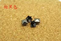 200pcs 6MM Gun-black Rivet Studs Spots Pyramid Rivets Metal Claw Beads Nailhead Punk Rock Spike CellPhone Leathercraft Accessory