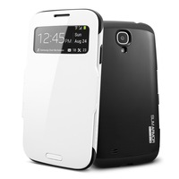 Newest Luxury Slim Armor View Case For Samsung Galaxy S4 SIV i9500 Smart SPIGEN SGP Hard Flip Cover Free Shipping