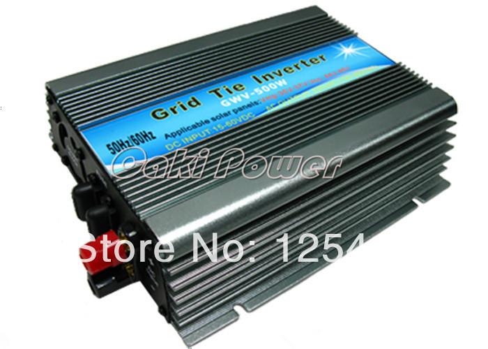 500w inverter Free Shipping 500W Solar Micro Grid Tie Inverter DC22~60V to AC110V/230V On Grid Inverter for Solar Panel(China (Mainland))