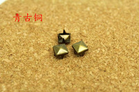 200pcs 6MM Bronze Studs And Spikes For  Clothes Metal Claw Rivets Spots Pyramid Nailhead DIY Craft Accessories Free Shipping