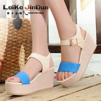 2014 summer wedges sandals female high-heeled sandals platform open toe women sandals