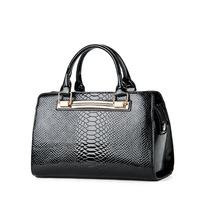 2014 the trend of fashion japanned leather handbag shoulder bag women bags