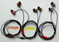 Hot selling Earphone with MIC for   mobile phone ,3 colors ,with retail bag,,fast shipping,200pc/lot