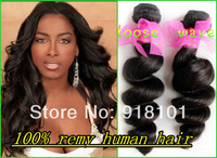 High quality Malaysian virgin hair #1b loose wave human hair weave Curly no shedding no tangle! free soft hot sale