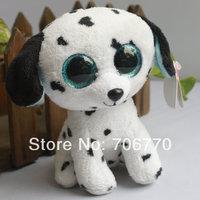 """IN HAND!  Rare Ty beanies Boo Cute Big eyes Animal ~FETCH  dalmatian dog~~Plush doll 6"""" 15cm Stuffed TOY BEST GIFT"""