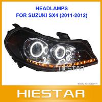ANGEL EYE COMPLETE Car HEADLIGHT For Suzuki SX4 WITH LED TEAR EYE  2011 2012