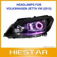 Jetta LED Car Headlight Angel eye For Volkswagen Jetta VW with Front Headlight Head Light Lamp