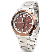 Eyki double calendar male watch steel strip waterproof watch sports watch steel male watch 8502