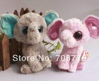 "IN HAND!  1pair Ty beanies Boo Cute Big eyes Animal ~Ellie PEANUT the Elephant~~Plush doll 6"" 15cm Stuffed TOY BEST GIFT"