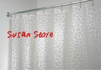 Bathroom curtain plastic peva waterproof shower curtain 180*180cm cobblestone