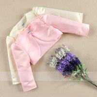 2014 spring princess dress perfect match silks and satins pink coat child waistcoat female child small cape