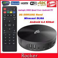 S82 Amlogic S802 Quad Core Android 4.4 TV Box,2G/8G 4K HDMI Media Player,XBMC 2.4G/5G Dual WiFi Smart Mini PC+Remote Control