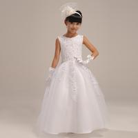 Flower girl long design formal dress quality child formal dress puff dress princess formal dress Long Pageant Gown For Children