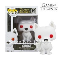 Free shipping NEW 2014 FUNKO POP 6 inch Q Edition Game of Thrones Direwolf Ghost Braun new box  for Car Decoration