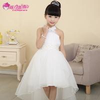 Children's clothing 2014 party evening flower girl dress dress child spaghetti strap princess dress long trailing dress