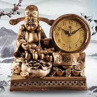 Resin clock home decoration the god of wealth crafts lucky pendulum clock modern desk clock table