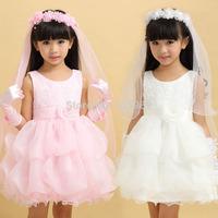 2014 female child dress performance wear wedding dress clothing princess dress puff dress party evening Dress