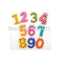 X mas Gift 10 Number Wooden Fridge Magnet Education Learning Cute Kid Toy souvenir fridge magnet fridge magnet 3d  Free Shipping