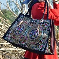 Embroidery bag women's handbag embroidery bag double faced embroidered shoulder bag large bag embroidered