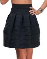 New 2014 Woman Skirt Wave Striped High waist short tutu skirts Elastic Ball Gown SKIRT For Woman