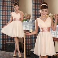 women fashion short design double shoulders sash evening dress sweet party dress vestido de noche falda de gala festa,