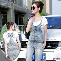 Women 2014 summer jeans the trend of casual summer suspenders denim jumpsuit capris