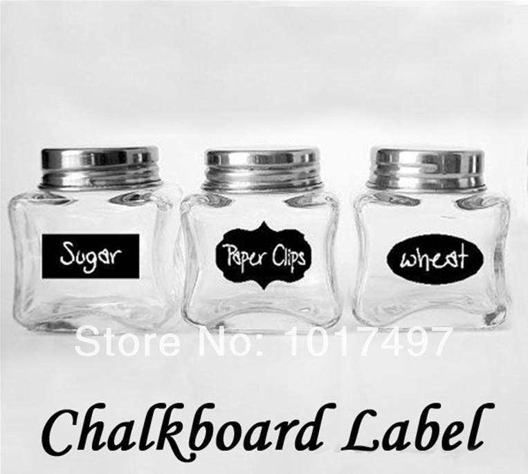 2014 hot Cute Chalkboard Sticker Labels Vinyl Kitchen Pantry Organizing Home Sticker 3 Design 36 Decals NEW HOT 5CM X 3.5CM(China (Mainland))