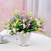 5pcs/Lot Plastic Gladiolus Small Flowers Bouquet Flower Accessories Artificial Flowers Home Wedding Decorative Flowers