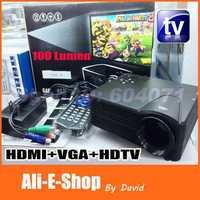 LZ-H100 Digital Video Projectors HDTV version 100 Lumens Game Projector HDMI AV/VGA/SD/USB/ HDTV Multimedia Player Home Theater
