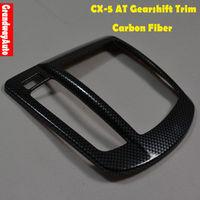 Carbon Fiber Car AT Auto Gearshift Knob Frame Panel Trim dashboard Cover For Mazda CX-5 CX5 2012 -present Free Shipping