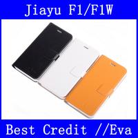 In Stock 100% Original Jiayu F1 F1W Leather Case PU Flip Cover For Jiayu F1 F1W Mobile Phone Black White Yellow/Eva