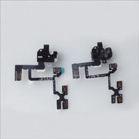 10pcs/lot Headphone Audio Jack Flex Cable black white color mix for iPhone 4 4G