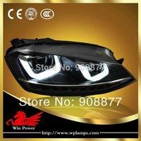 (Left+right)Upgrade VW Volkswagen golf MK7 VII headlight LED DRL LED turn light for VW golf 7 phare