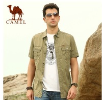 camel men's daily casual summer cotton shirt for men