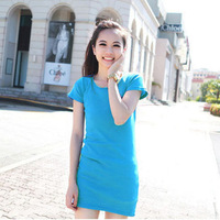 Free shipping fashion leisure t-shirts modal cotton t shirt 2014 women long t-shirts