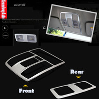 Car Interior reading Lamp Frame Ceiling Dome light panel Trim Trims For Mazda CX-5 CX5 2012--present Free Shipping