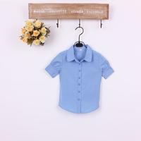 2014 spring and autumn fashion girls clothing short-sleeve turn-down collar child shirt female short-sleeve shirt short