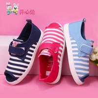 Shoes female child princess single shoes open toe sandals breathable canvas shoes children shoes summer new arrival