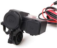 12V/5V Motorcycle BOAT JETSKI Dual USB SOCKET OUTLET Waterproof Cigarette Lighter Charger Power Supply 2.1A For cellphone  pad