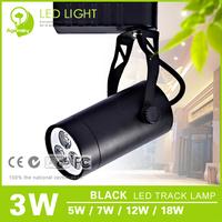 Free Shipping 5 pieces/lot Black 3W LED Track Light Epistar35 Energy saving 2 Years Warranty LED Tracking Light
