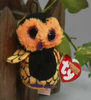 """IN HAND!  Rare Ty beanies Boo Cute Big eyes Animal ~Ozzie the owl  plush Ornaments ~~Plush doll 3"""" 8cm Stuffed TOY BEST GIFT"""