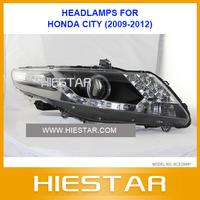 Auto Headlight for Honda City 09 10 11 12  with projector lens,HID bulb,CCFL,director light