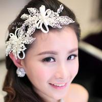 Water bridal hairpin handmade hair accessory married beaded wedding dress hair accessory style princess wind gift box set