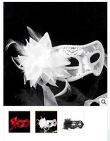 2014 new handmade Venetian masks Shimmery cloth masquerade mask feather mask lady gifts
