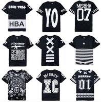 CG-53 Men sportswear Fashion Lovers hiphop Skateboard Short-sleeve hip hop t shirt Sportswear Men's shirts hba skate rock