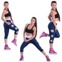 Women Capris Leggings Candy Color Capris High Waist Stretchy Leggings Sporting Casual Yoga Young Women Pants Capris