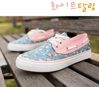 Womans casual shoes sneakers women platform summer floral canvas shoes for women sports shoes woman Flats lace up